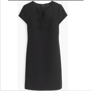 [J. Crew] Black Label Bow Presentation Dress